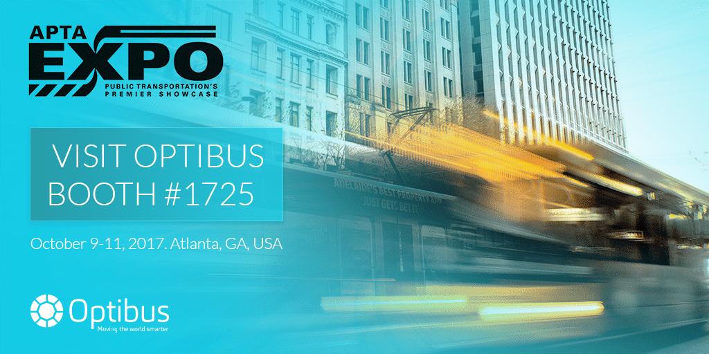 Optibus to participate and present at APTA Expo 2017